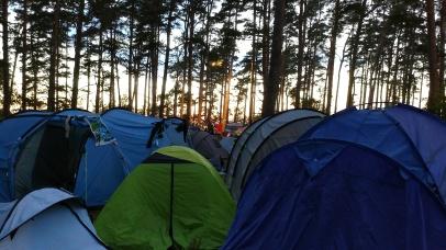 Campingen kväll