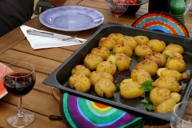 Knockad potatis i ugn
