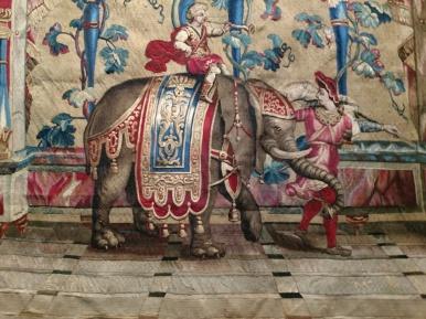 20190405 Gobeläng elefant detalj