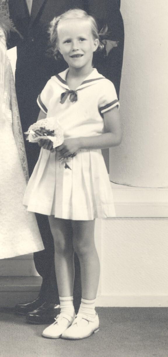 Agneta är brudtärna 1955